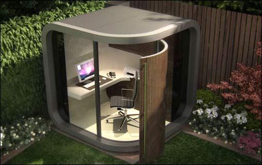 OfficePOD A Miniature Office in your Backyard