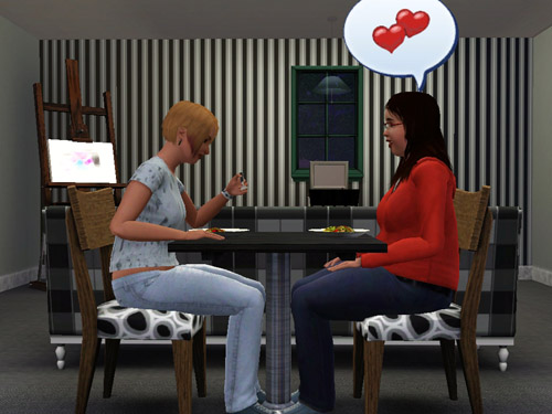 "Whereas in Sims 2 a same-sex couple could only have been ""joined,"" they are ..."
