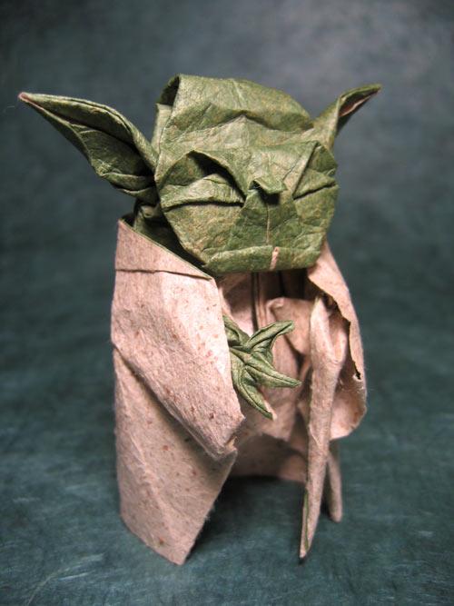 Yoda Origami Model