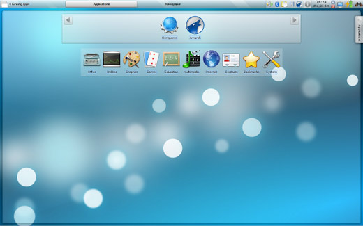Screenshot of Kubuntu Netbook Edition