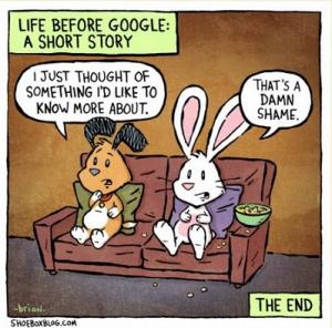 Life before Google cartoon