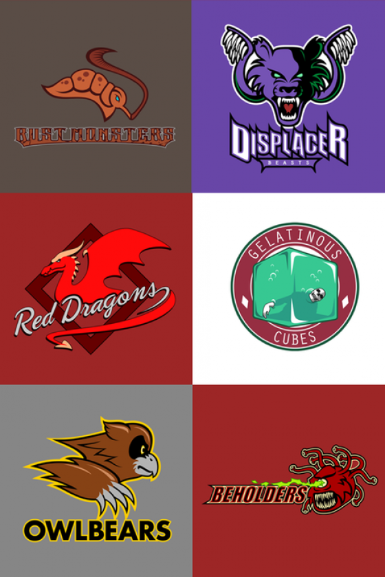 Dungeons and Dragons Sports Teams