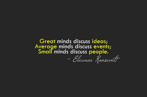 Its Important To Note That No One Knows For Sure If This Actually Comes From Mrs Roosevelt And The Quote Itself Is Often Attributed To Admiral Hyman G