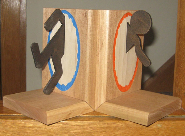 Geeky portal bookends pic - Portal book ends ...