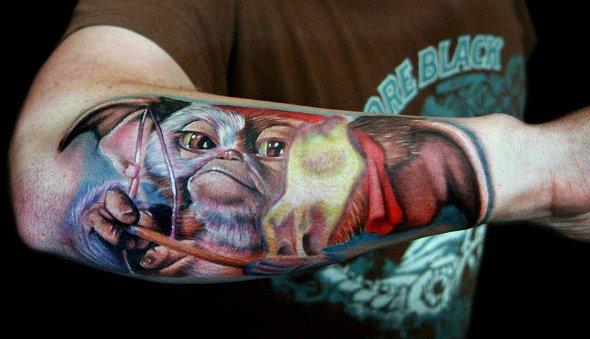 rambo gizmo gremlins tattoo pic