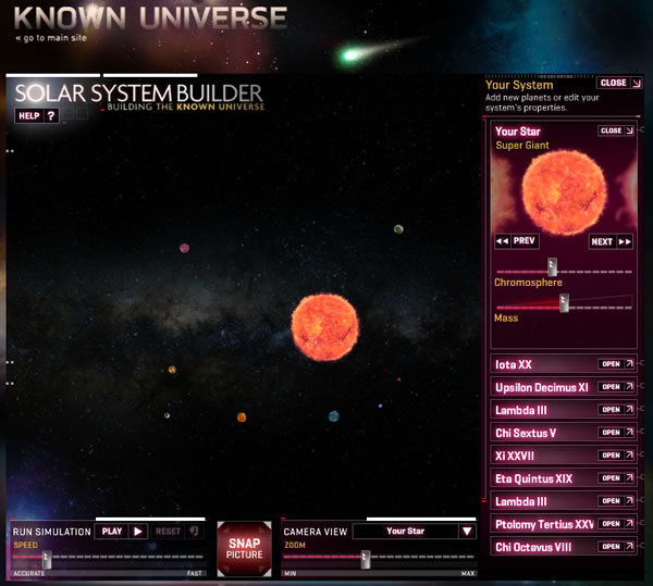 Solar System Builder [Online Game]