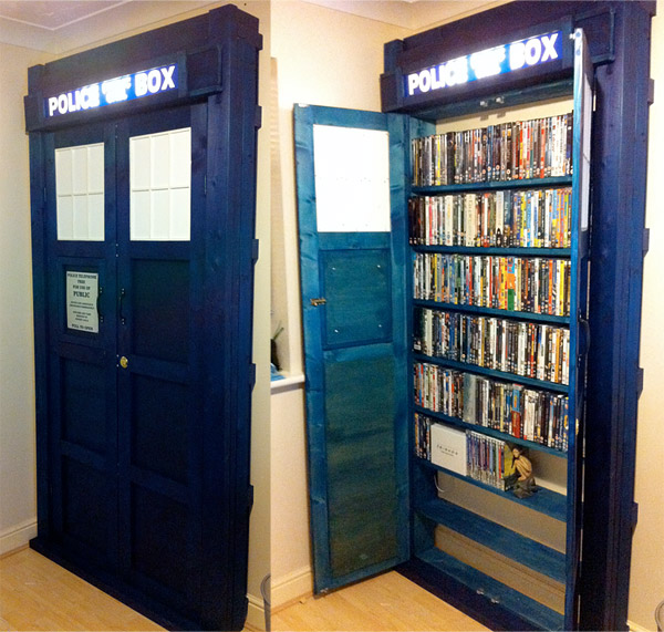 - Awesome TARDIS DVD Bookcase [Picture]