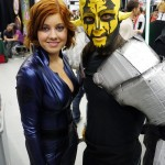 Black Widow and Dathomirian dude at Montreal Comic Con 2012
