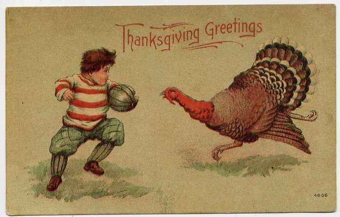 Thanksgiving card from 1900. Public domain. via Wikimedia Commons
