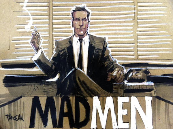 Mad Men Comic Style Drapper