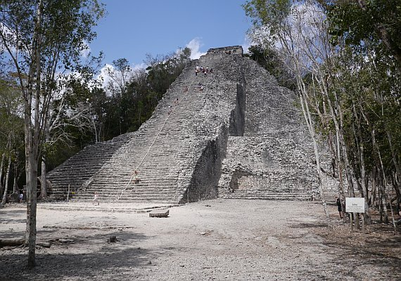 The Main Pyramid at Coba -  Picture Credit: Geeks are Sexy (March 2011)