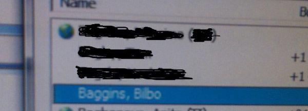 Bilbo Baggins at work