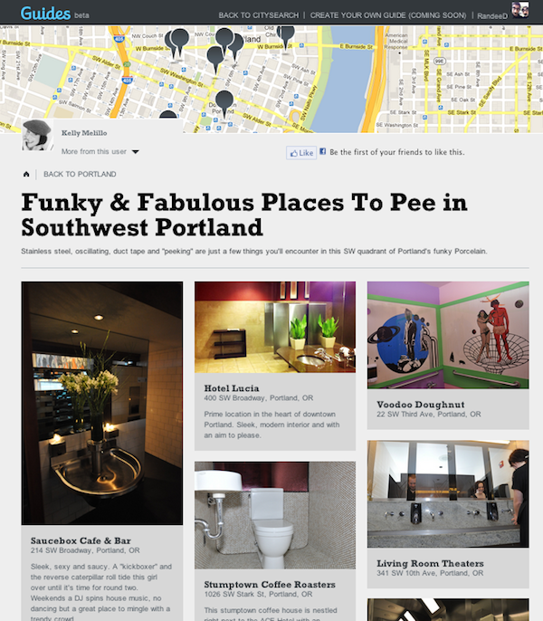 Places to Pee in Portland