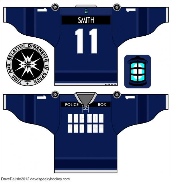 TARDIS hockey jersey