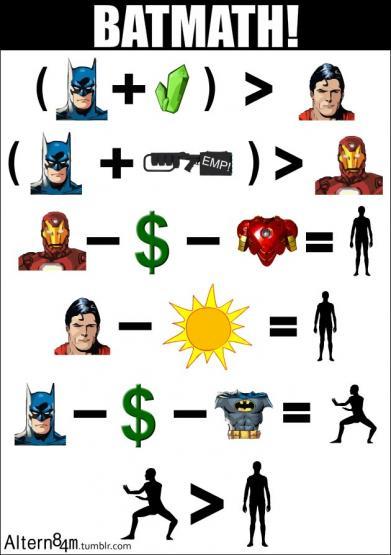 its batmath batman superman and iron man pic batman superman iron man