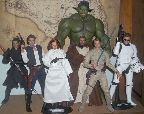 Avengers as SW toys