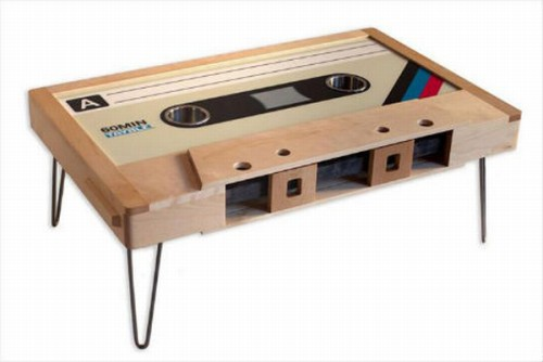 custom made cassette tape coffee tables