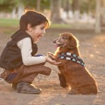 han solo and chewbacca_boy and his dog 1