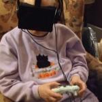 grandmother uses oculus rift
