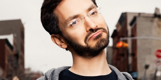"Meet Myq Kaplan! His 2013 comedy special ""Small, Dork, and Handsome"" is available on Netflix Instant."