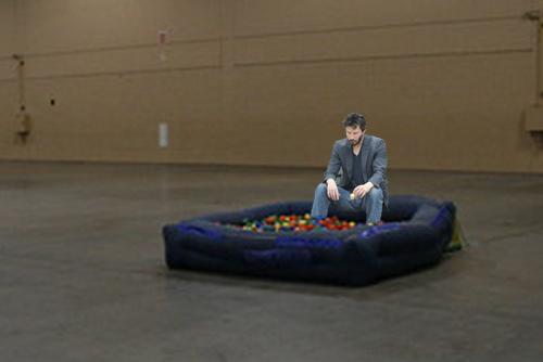 Sad Keanu_ball pit