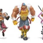 (Left) Rey Mysterio, Jr., (Middle) Hulk Hogan, (Right) Diva Kelly Kelly.