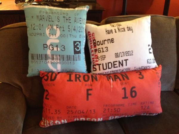 ticket pillows