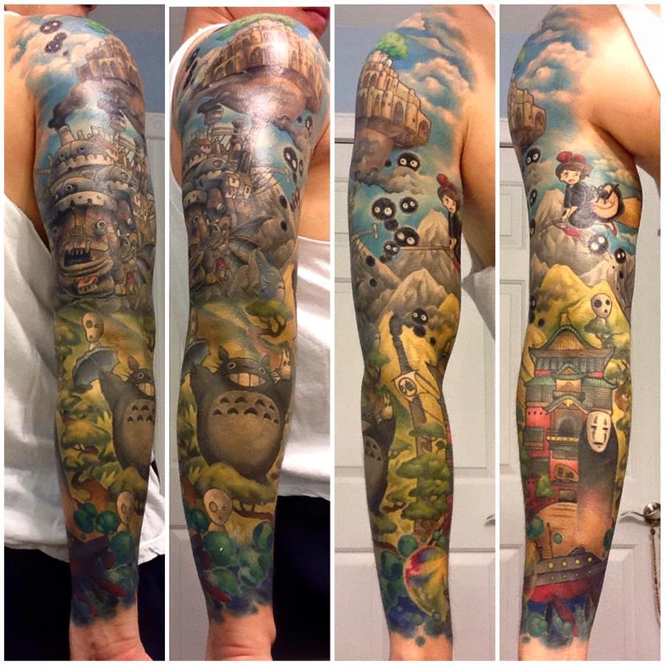 Electric chair tattoo - Studio Ghibli Tattoo Done By Andy Kurth At Electric Chair Tattoo In Clio Mi