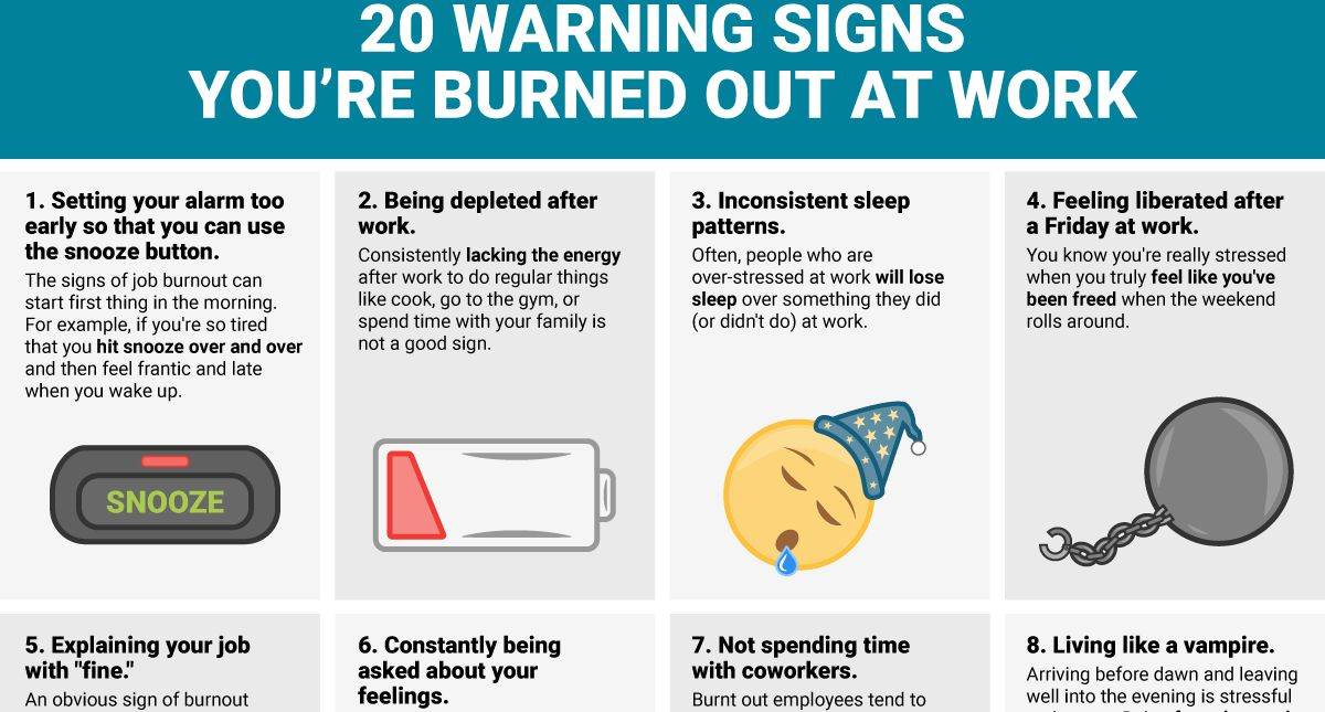 20 Warning Signs You're Burned Out At Work [Infographic]