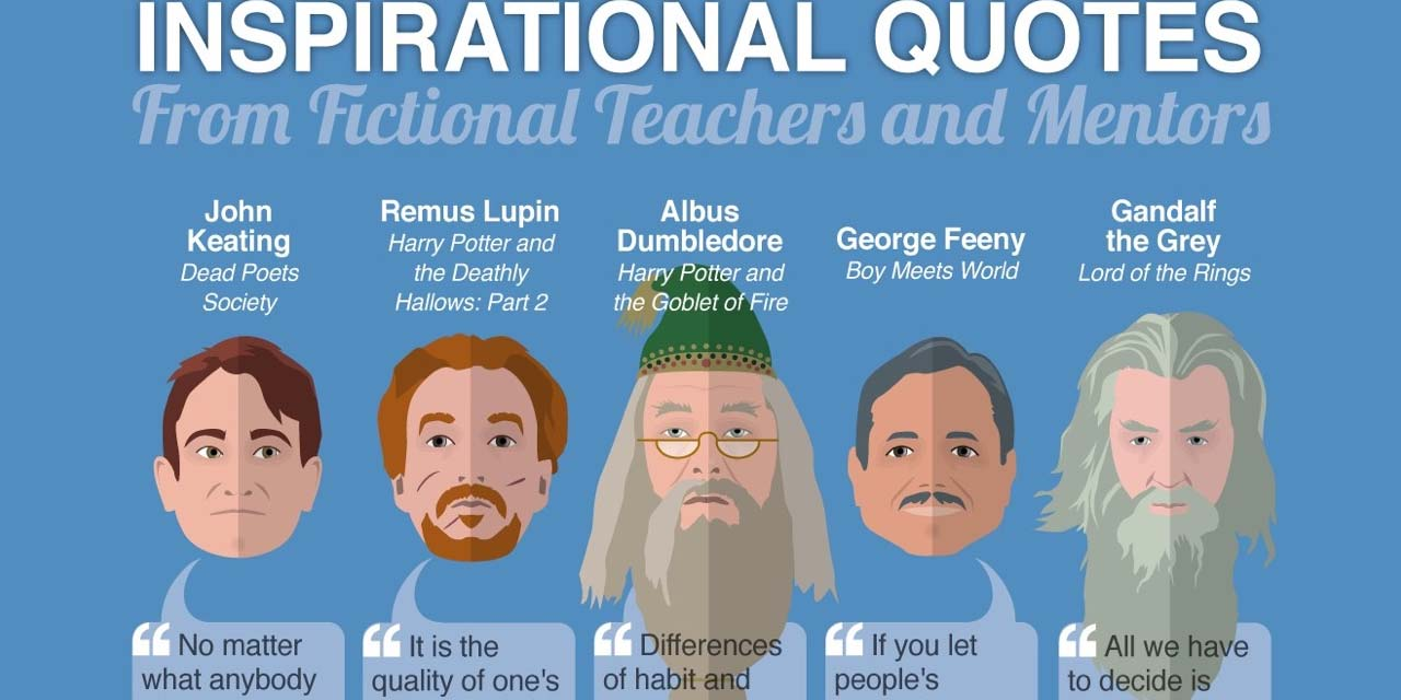 30 Inspirational Quotes from Fictional Characters Infographic