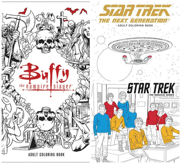 star trek and buffy get adult coloring book treatment - Star Trek Coloring Book