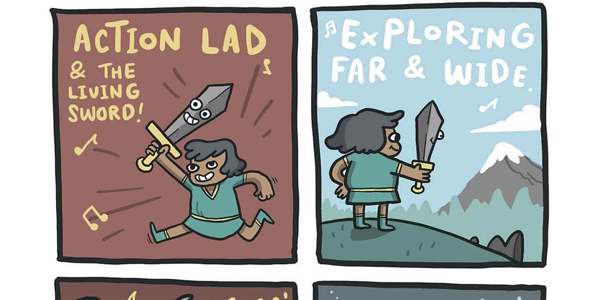 Action Lad and the Living Sword Comic