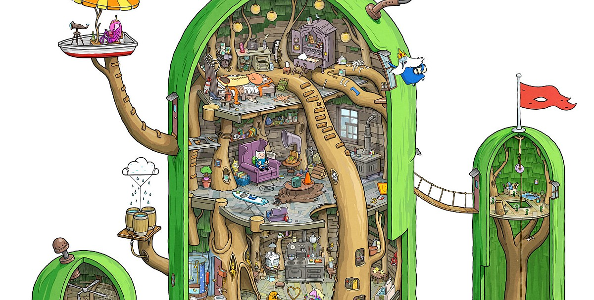 A Detailed Look at Adventure Times Tree Fort Pic