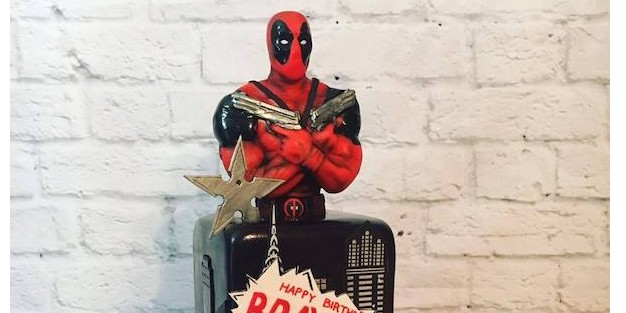 The Ultimate Deadpool Birthday Cake Pics