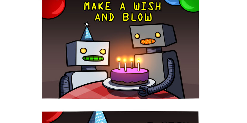 Happy Botday: Make a Wish and Blow Comic
