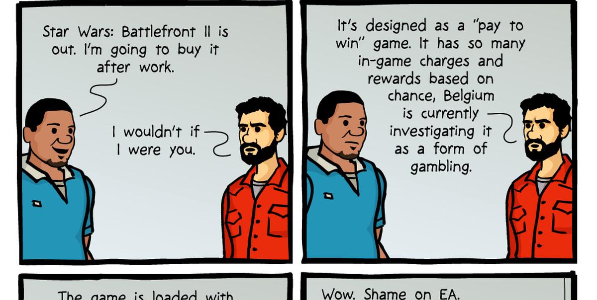 Extorting Money in Battlefront II Comic