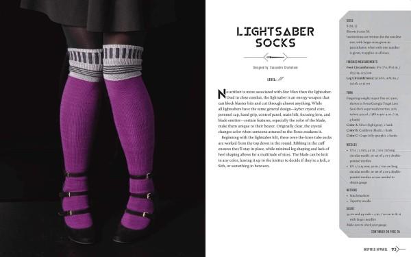 Lightsaber socks